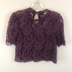Anthropologie Lovely 153 Lace Top